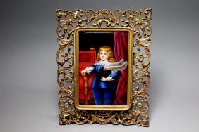 Painting On Porcelain Of Young Napoleon