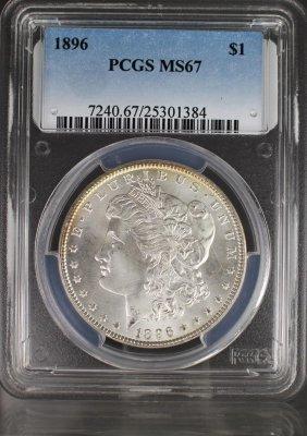 1896 Morgan Dollar Graded Ms67