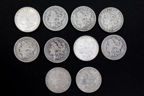 Ten Morgan Dollars