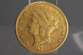 1905-s Gold Liberty Double Eagle