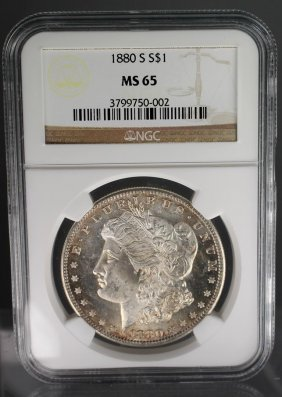 1880-s Morgan Dollar Ms65