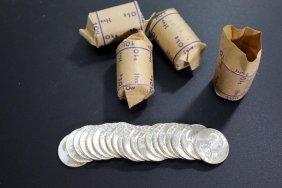 Four Original 1963 Half Dollar Bank Rolls