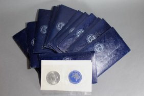 14 Sets 1971 Eisenhower Uncirculated Silver Dollars