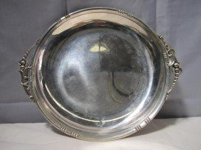 Art Deco Round Sterling Tray (11 Oz.) ***