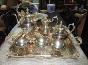 7 Piece Silver Plated Tea & Coffee Service