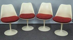 Set Of 4 Eero Saarinen For Knoll Tulip Chairs