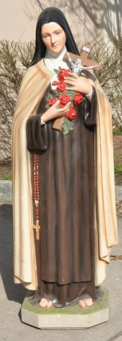 Plaster Statue Of St Theresa With Glass Eyes