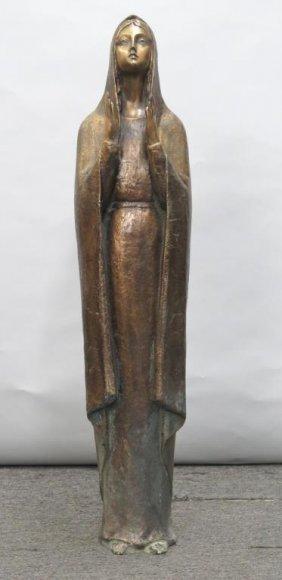 Bronze - Praying Standing Madonna