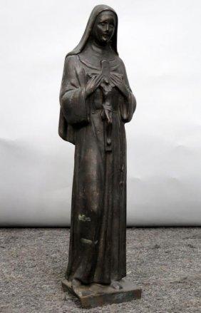 Bronze - Nun With Crucifix