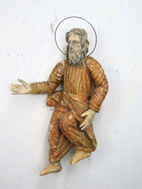 Antique Orthodox Style Saint Carving
