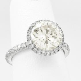 Platinum 2.51 Carat Diamond Ring