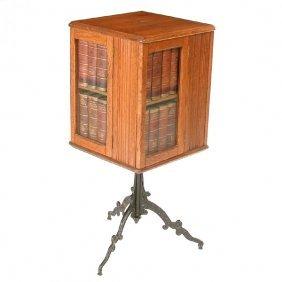 "American Oak Book Case ""Cyclopedia"""