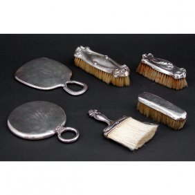 Sterling Vanity Set Pieces, 6 Pieces