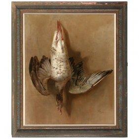 Raimund Von Wichera Painting, Still Life With Duck