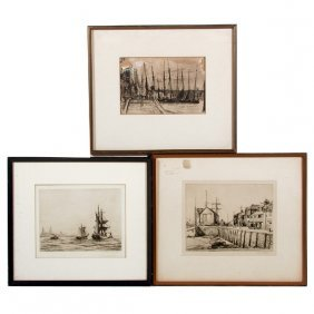 Whistler, Clark, And Bone Ship Etchings (3)