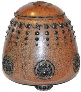 Stoneware Art Nouveau Punch Bowl By Paul Wynard