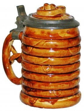 Figural Character Stein Of Pretzel