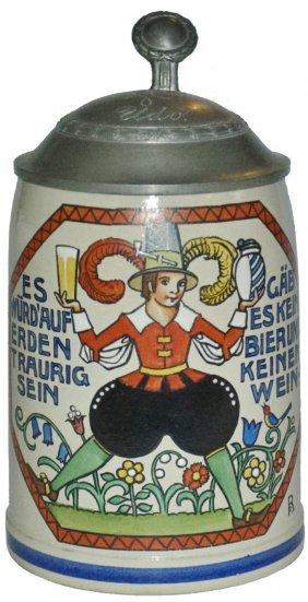 Franz Ringer Cavalier & Verse Stoneware Stein