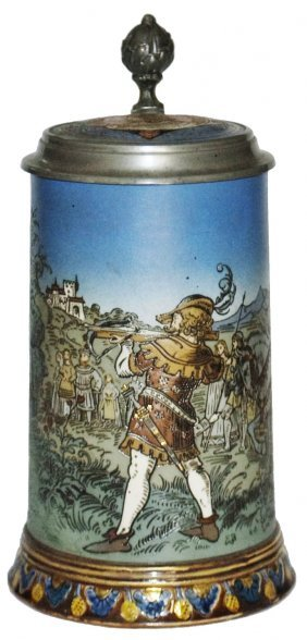 William Tell Mettlach Stein