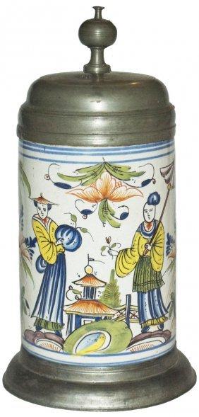 Oriental Design Thuringen Faience Stein Dated 1773