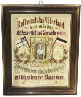 "Embroidered Sailor Regimental Certificate 16 X 19"""