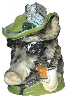 Boar W Bavarian Hat Schierholz Character Stein