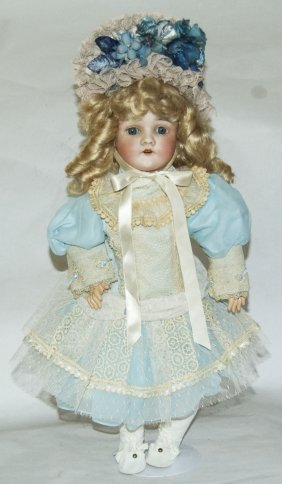 Armand M Queen Louis Germany Bisque Composition Doll