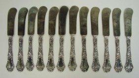 12 Sterling Silver Knives Gorham POPPY Pattern