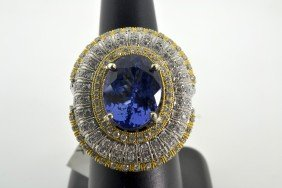 Tanzanite And Diamond Ring Appraised Value: $30,500
