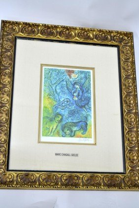 "Marc Chagall's ""The Magic Flute"" Art"