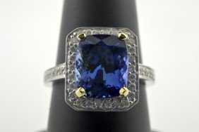 Tanzanite And Diamond Ring Appraised Value: $11,650