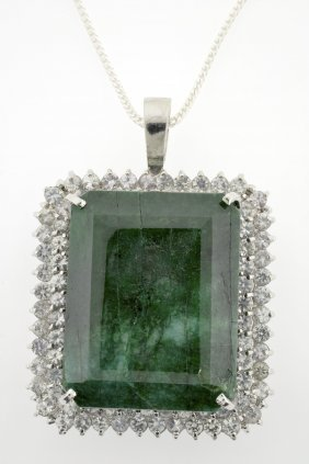 Emerald And Sapphire Necklace Appraised Value: $21,566