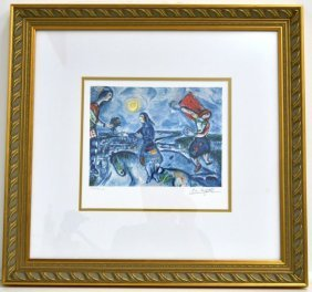"Marc Chagall's ""Lovers Over Paris"" Art"