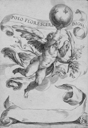 Alberti Cherubino, Winged Genius With Globe