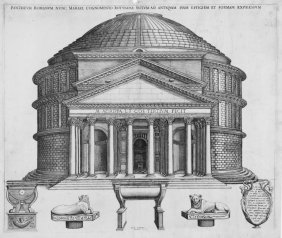 Beatrizet Nicolas, View Of The Pantheon In Rome