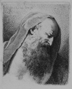 Bossi Benigno, Portrait Of Old Man