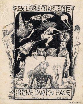 Martini, Ex Libris Diablerie Irene Dwen Pace