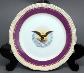 "Danbury Mint ""Royal Purple"" China Plate"
