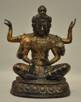 Chinese Bronze Tibetan Buddha
