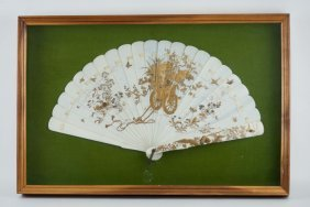 Orental Framed Ivory Fan