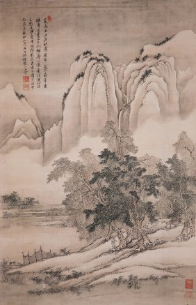 Fine Chinese Painting By Wang Hui