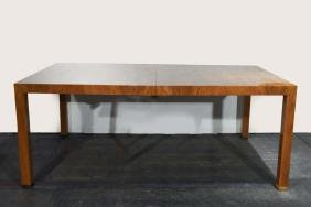 PARSON STYLE DINING TABLE W/ 3 LEAVES