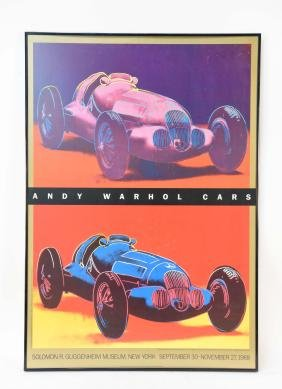 Andy Warhol Cars Guggenheim Museum Poster