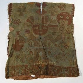 CHANCAY PAINTED TEXTILE PONCHO