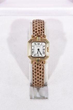 Cartier Centuire 18k Gold Ladies Watch