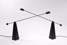 Pair Of Ron Rezek 'orbis' Table Lamps