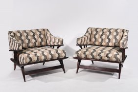 Adrian Pearsall (attr.) Pair Of Lounge Chairs