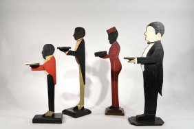 Wooden Butler Smoking Stand Grouping
