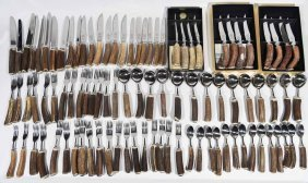 High Country Arts Stag Horn Cutlery Grouping