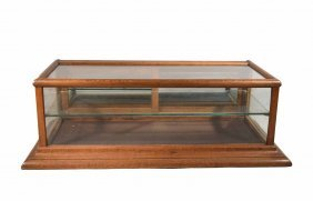 Vintage Oak Country Store Display Case